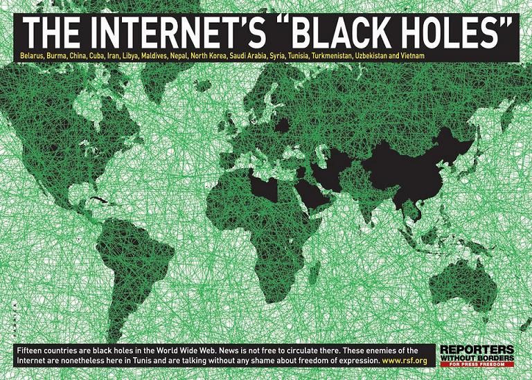 Women have fewer civil rights in web black hole locations. Note Arabia, China.